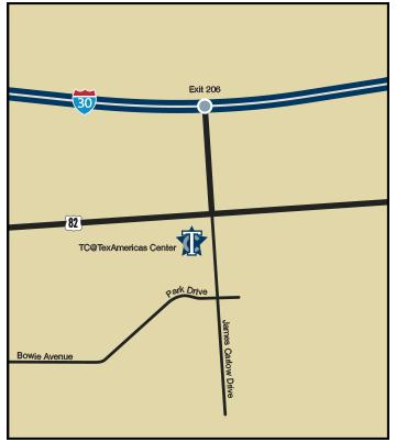 TC@TexAmericas Center Map