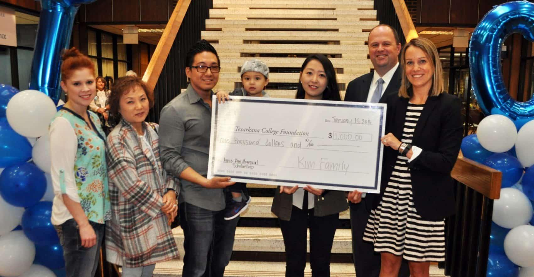 Kim family presents first Annie Kim Memorial Scholarship
