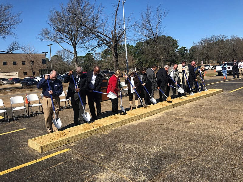 Trustees and Honored Guests break ground on the Workforce Innnovation