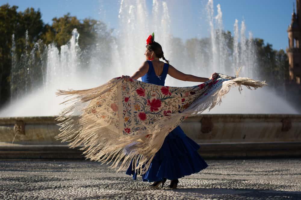 Woman dancing Flamenco in Spain