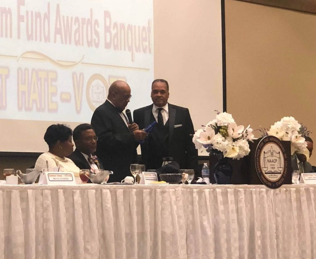 Dr. James Morris, adjunct professor at Texarkana College, who won the prestigious Professional Award at the Greater Texarkana Branch of the National Association for Advancement of Colored People (NAACP) Annual Awards and Freedom Fund Banquet held on Saturday, October 27, 2018