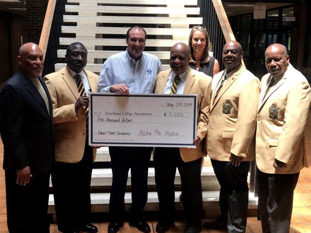 $5000 Robert A. Jones Scholarship Fund donation by Alpha Phi Alpha