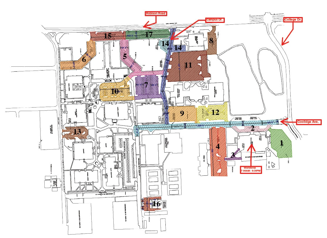 Campus Projects Map