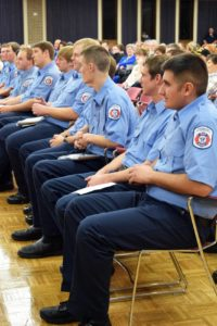 Graduating Fire Academy students