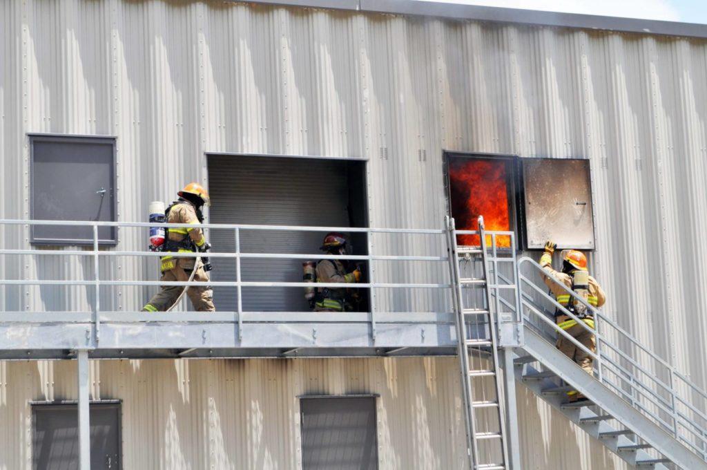 Texarkana College Fire Academy Students training