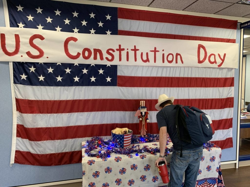 TC Social Sciences faculty celebrate Constitution Day 2018