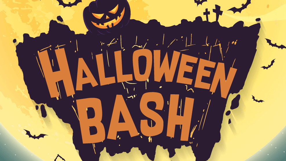 Halloween Bash poster clipping