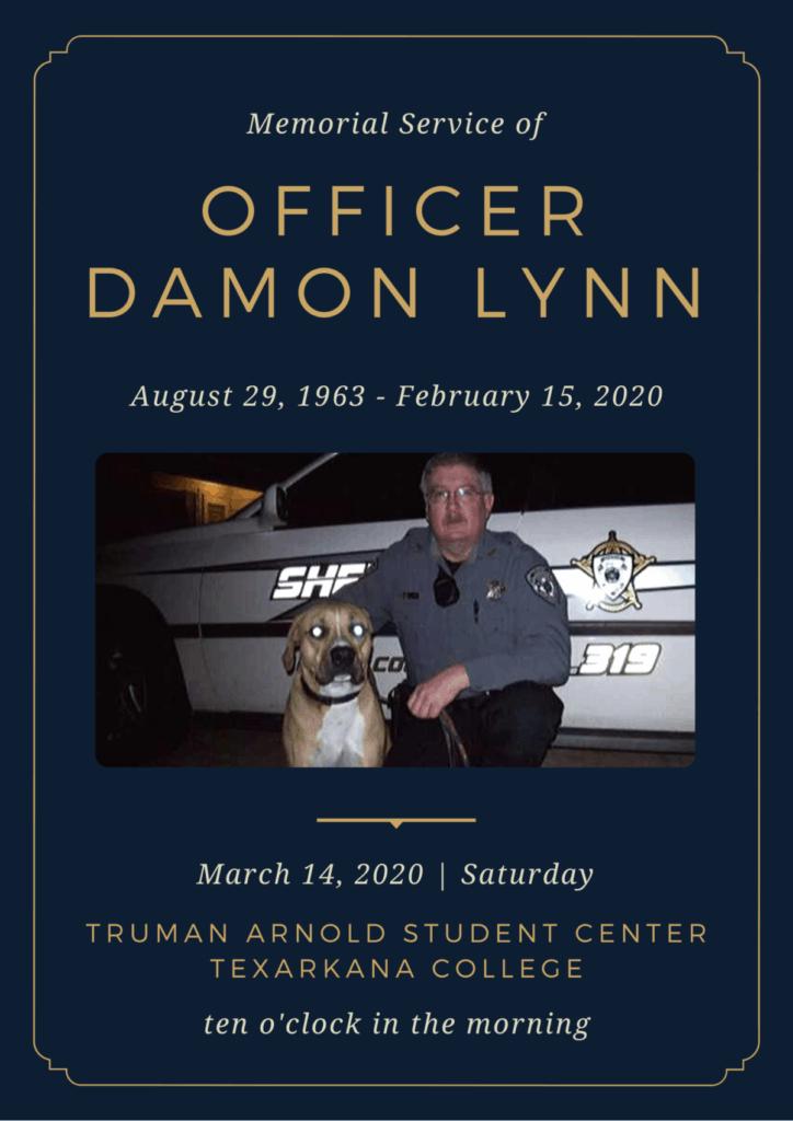 Officer Damon Lynn Memorial announcement