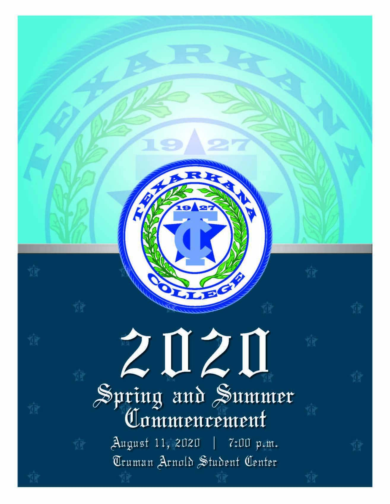 2020 Spring and Summer Commencement program cover