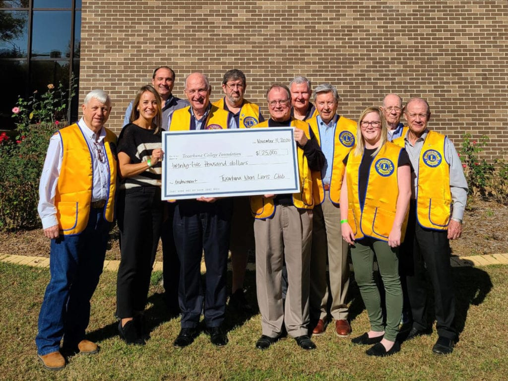 Lions Club TC Foundation donation presentation