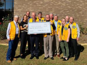 Lions Club TC Foundation donation presentation