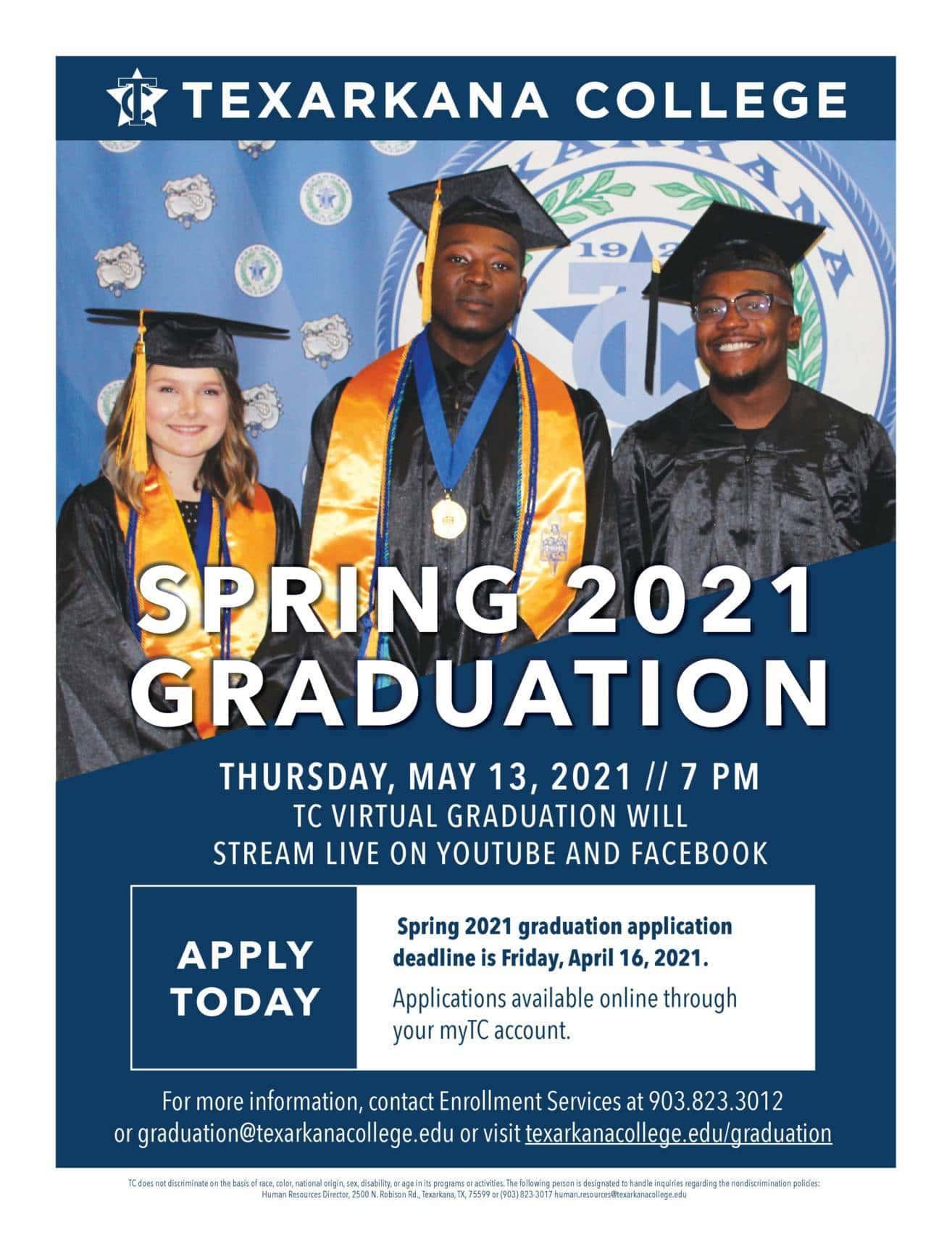 Graduation Application Flyer Spring 2021