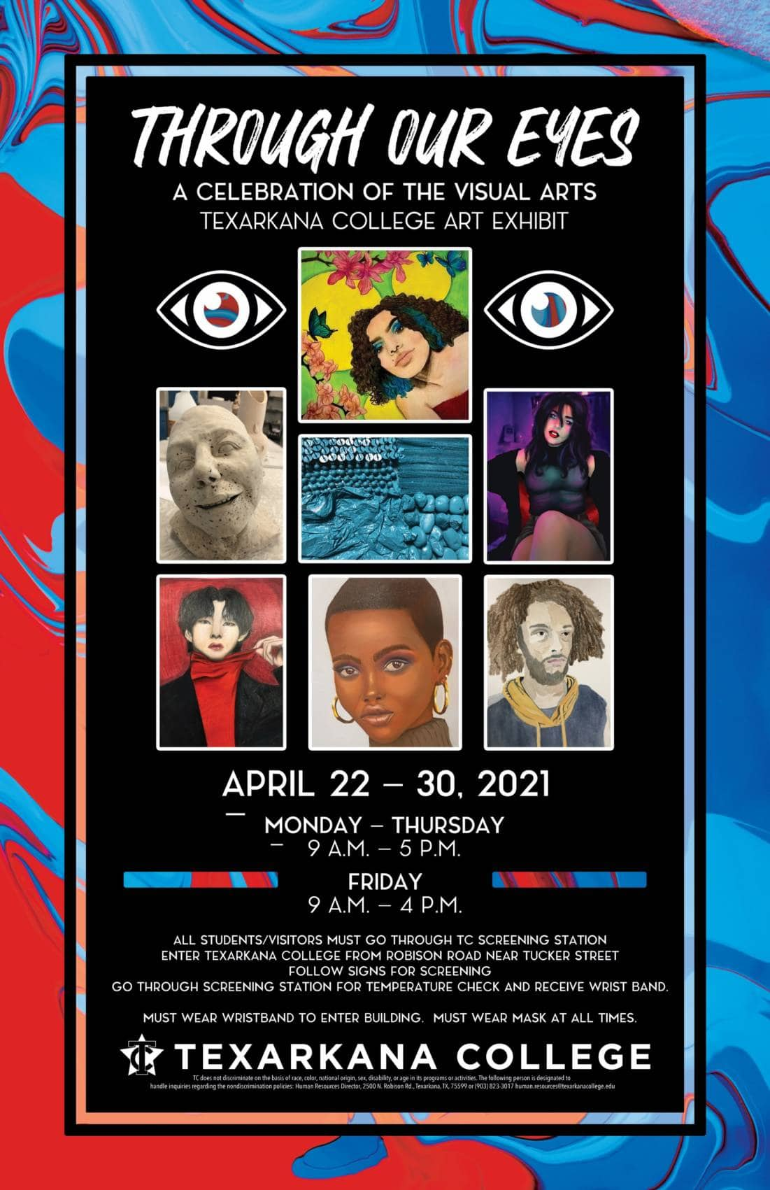 Through Our Eyes - Visual Arts Exhibit, April 22-30, 2021 in the Stillwell Humanities Lobby
