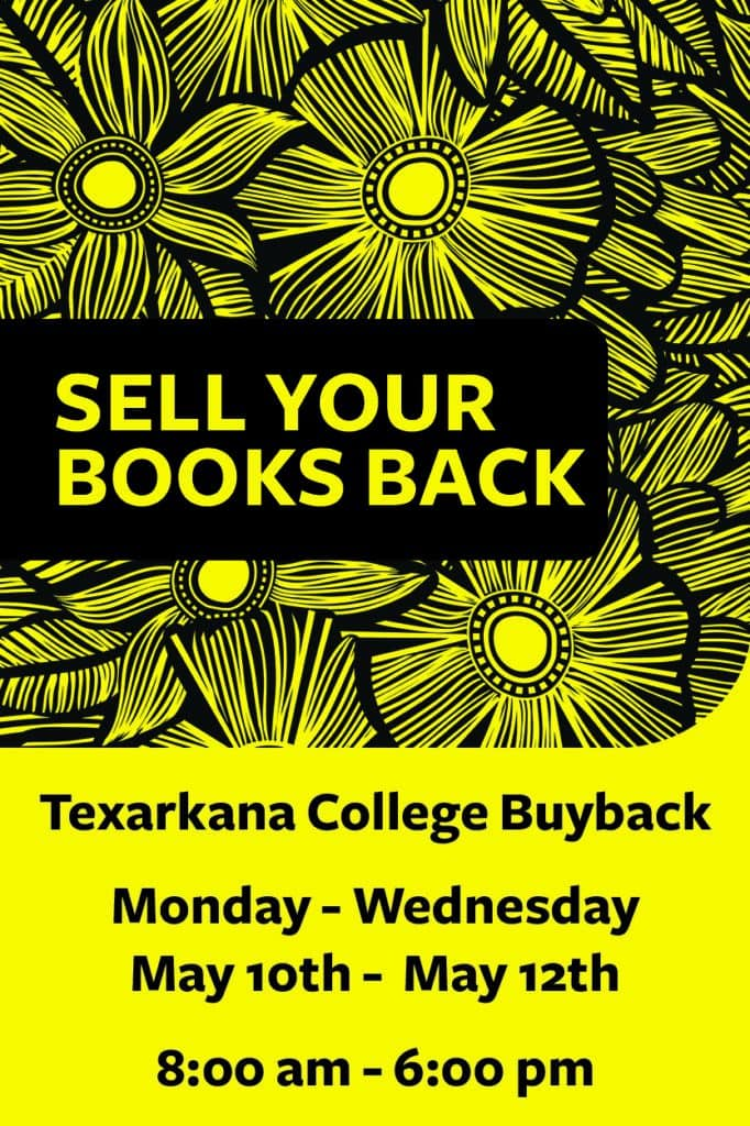 Spring 2021 book buyback - May 10-12 8am-6pm