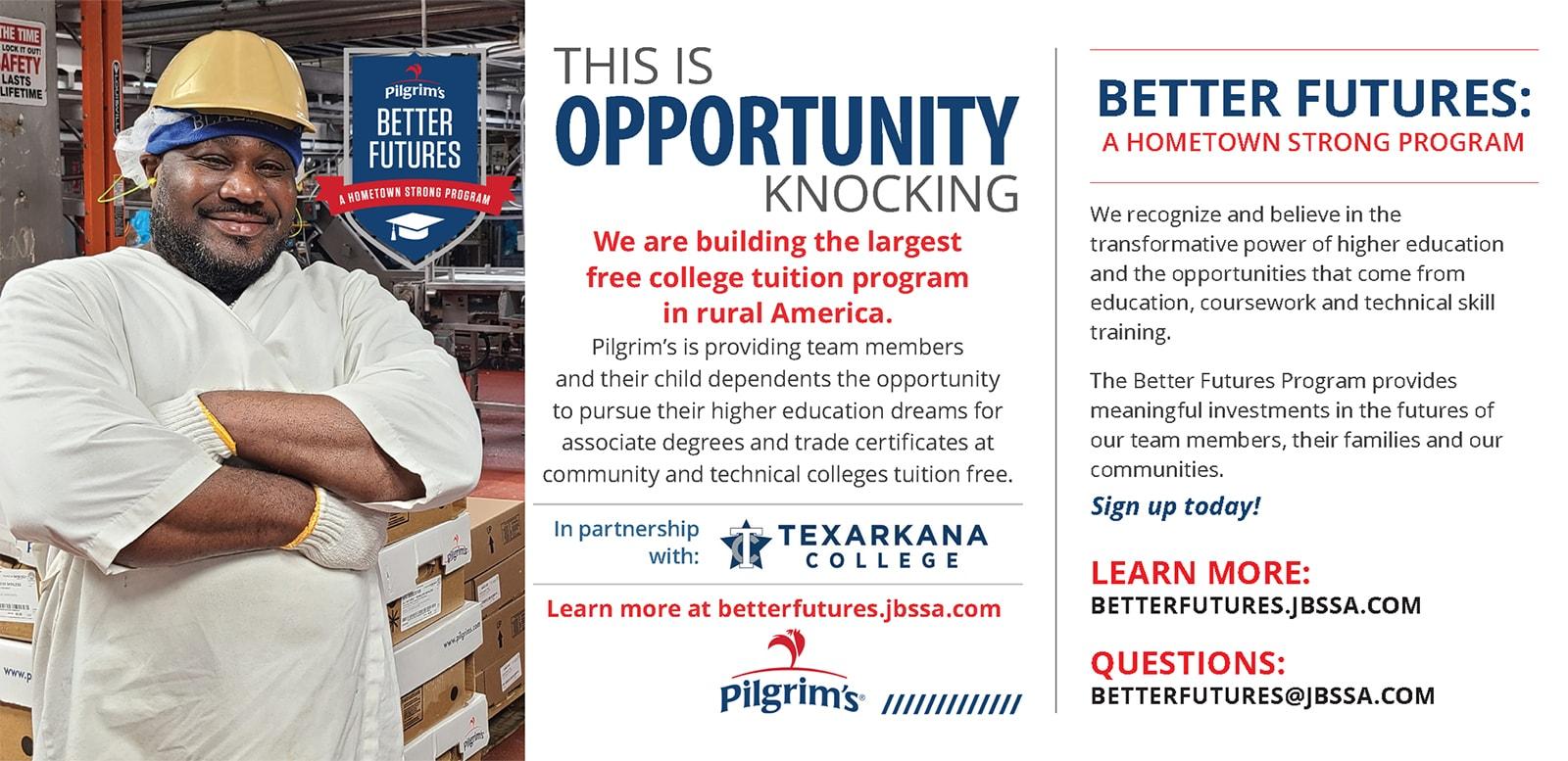 Better Futures with Pilgrim's & Texarkana College